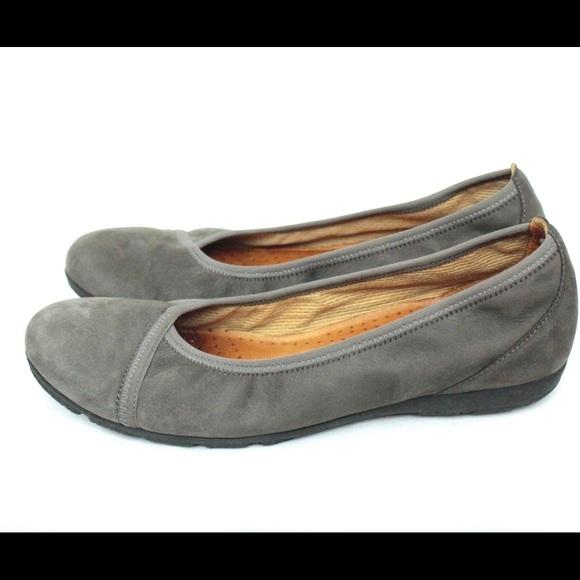 2c0862eae4a0a Gabor Shoes | Hovercraft Suede Leather Ballet Flats | Poshmark